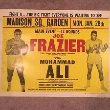 Muhammad Ali vs Joe Frazier Original 1974 Madison Square Garden Boxing Poster