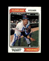 Gaylord Perry Hand Signed 1974 Topps Cleveland Indians Autograph