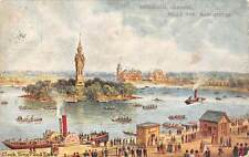 Manchester, Belle Vue, Zoological Gardens, Clock Tower and Lake, ship, boats