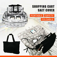 Baby Child Shopping Trolley Cart Seat Pad High Chair Cover Printing + Handbag