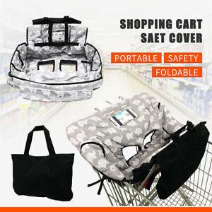 Baby Child Shopping Trolley Cart Seat Pad High Chair Cover Printing + Handbag
