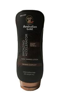 Australian Gold Bronzing Accelerator Dark Tanning Lotion Indoor/outdoor