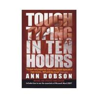Touch Typing in Ten Hours by Ann Dobson (author)