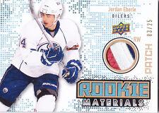 10-11 Upper Deck Jordan Eberle /25 PATCH Rookie Materials Oilers 3 Color 2010