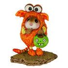 Wee Forest Folk LIL MONSTER, M-590o, Halloween Mouse, Orange LTD