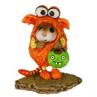 Wee Forest Folk LIL MONSTER, M-590o, Halloween Mouse, Orange LTD