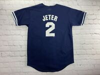 Majestic MLB New York Yankees Derek Jeter Baseball Jersey Youth Size Large MINT!