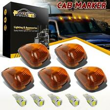 5xAmber Cab Marker Clearance Light 264143AM+5xW5W 6-5730 White LED+Base for Ford