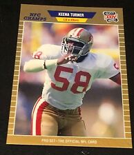 KEENA TURNER 1989 Pro Set ERROR Blank Back Super Bowl XXIV Proof? RARE 49ers