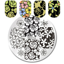 Nail Art Stamp Image Plates Stencil  Template Beautiful Flower Design
