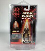 Star Wars CommTech Chip Ki-Adi-Mundi Action Figure Hasbro 1998 W/ Display Case