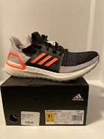adidas Ultraboost 19 Black / Solar Orange Mens Running Shoes G27516 Size 9.5