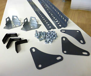 Dexion Slotted Angle Lengths, Corner Plates, Footplates - Construction Steel