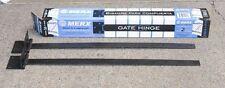 "Long 36"" Heavy Duty Large Merx Gate Hinges Galvanized Black Strap Hinge DIY Pair"
