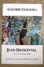 DASSONVAL Jean Affiche 1990 Original Poster ANARTISTE Anarchie art