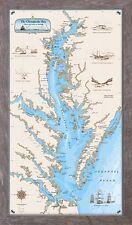 Framed Original Chesapeake Bay Chart - Nautical Art Print Map