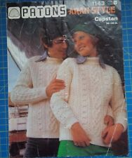 Patons His & Hers Aran Sweaters Knitting Pattern 1143