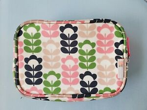 Orla Kiely Multicolor Floral Zippered Travel Cosmetics Bag Pouch