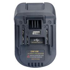 Milwaukee M18&Dewalt DCB200 Li-Ion Battery Convert to Makita 18V BL1830 Adapter