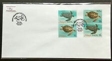 1995 Malaysia Marine Life Turtle 4v Stamps (se-tenant 'A & B') on 1 private FDC
