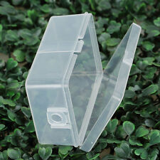 Small Plastic Clear Storage Box With Lid Collection Container Case 7.8*4.9*3CM