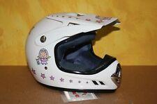 CASQUE Moto  Cross U-Ride URIDE HytracK - Fille - Blanc & rose -  49 - 50 cm