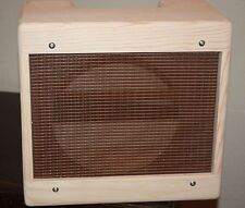 rawcabs  5F1 1x10 champ unfinished combo cabinet with oxblood fabric installed