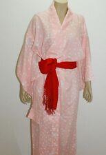 Japanese Kimono ( plum blossom pattern ) polyester100%  & Obi 100% silk #437