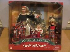 HOLIDAY SISTERS BARBIE KELLY STACIE SPECIAL EDITION GIFT SET 1998 NIB