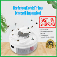 2019 Automatic Electric Home Fly Trap Device with Trapping Food -WHITE USB CABLE