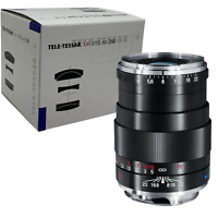 New Carl ZEISS Tele-Tessar T * 85mm f4 Lens ZM Mount Leica M BLACK