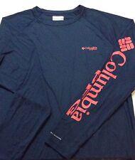 "New Mens Columbia PFG ""Terminal Tackle"" Omni-Shade/Wick T-Shirt Top Tee Polo L"