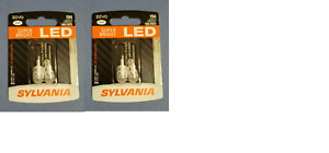 4 BULBS NEW Sylvania ZEVO LED 194 Bright White 6000K Plate Tag Dome Marker Light