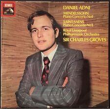 HMV ASD 2208 MENDELSSOHN SAINT-SAENS PIANO CONCERTOS  UK DANIEL ADNI GROVES UK