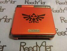 *MINT* Red & Black Zelda GameBoy Advance SP AGS-101 Brighter Nintendo System gb