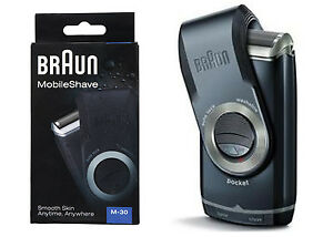 Braun New Travel Pocket Shaver M30  Remove Hair Smooth Skin AU SELLER