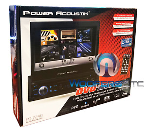"POWER ACOUSTIK PD.724B 7"" CD DVD BLUETOOTH USB AUX TOUCHSCREEN STEREO RADIO NEW"