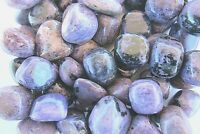 Charoite Three Tumbled Stones Grade B Russia 25-30mm Purple Healing Crystals