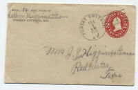 1911 Forest Cottage KY doane cancel #1, type 2 on stamped envelope [y5665]