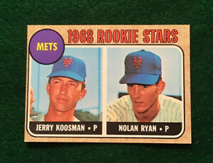1968 Topps Nolan Ryan Rookie Card #177 in Beautiful Condition