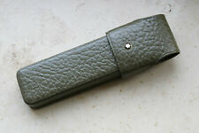 MONTBLANC FLIP FLAP pen pouch  2 pens - Olive Green genuine leather réf. 46103
