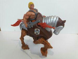 """Jouet rare: MUSCLOR HE-MAN épée + cheval STRIDOR """"Les maîtres de l'univers"""" 1981"""