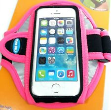 Tune Belt Sport Armband for iPhone 5 5s 5c Pink & Black Reflective AB87R