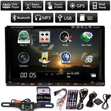 """HD 7""""In dash 2 Din Car DVD Player GPS TV BT Radio+Rearview Camera+SD GPS MAP"""