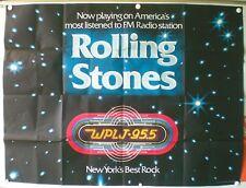WPLJ RADIO 95.5 NEW YORK'BEST ROCK- ROLLING STONES-AFFICHE PROMO ORIGINALE -1977