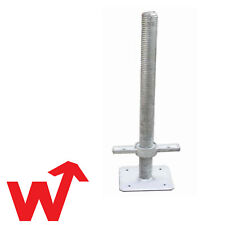 4 x Scaffold Adjustable Base Jacks - 6 Tonne - Scaffolding - Heavy Duty