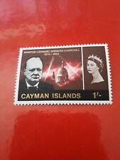 CAYMAN ISLANDS SG190w 1966 CHURCHILL 1/= WMK INVERTED MNH