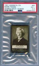 1901 Ogden's Guinea Gold H Base #87 MARK TWAIN Cigarettte Card Author PSA 5.5