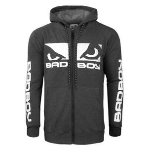 Bad Boy Ground N Pound Hoodie GPD Charcoal Hoody MMA Fight Top Casual