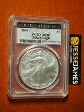2004 $1 AMERICAN SILVER EAGLE PCGS MS69 PREMIER LABEL